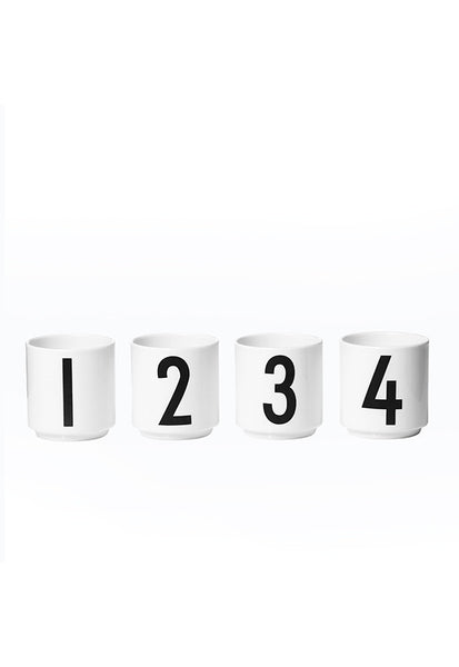 Design Letters 1234 4pc Espresso Cups