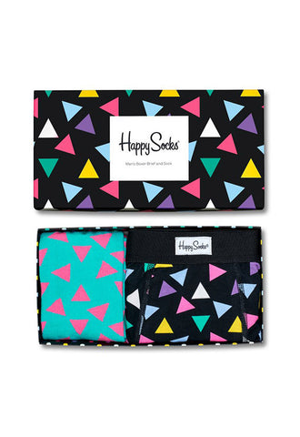 Happy Socks Triangle Boxer Brief Combo Box
