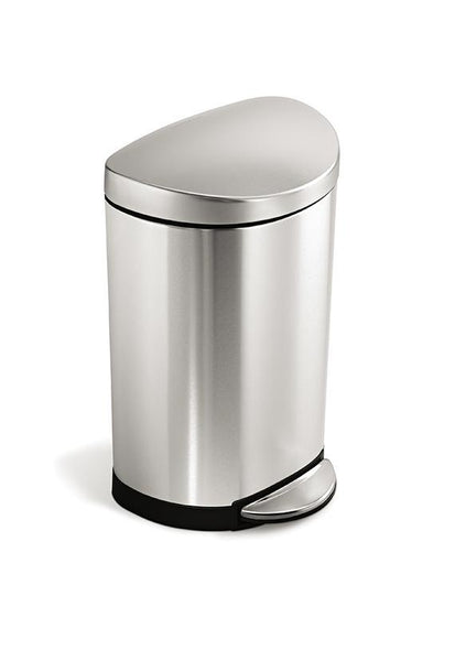 Simplehuman 10L Semi Round Step Bin, Stainless Steel CW1833