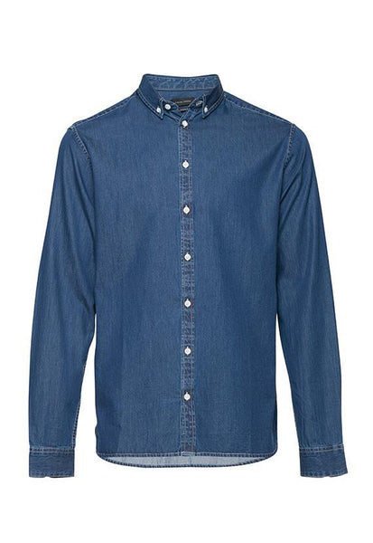 Casual Friday Long Sleeve Shirt, Indigo