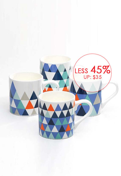Symphony Tri Mugs, </br>Set of 4