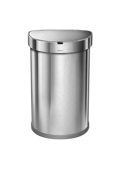 Simplehuman 45L Semi Round Sensor Step can with Liner Pocket ST2009