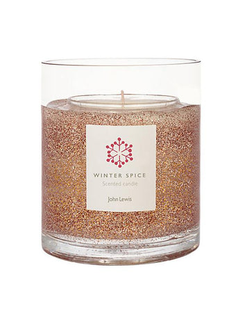 John Lewis Copper Large Copper Glitter Gel Candle
