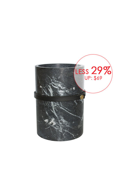 Robinsons Black Marble Collection, Cylinder Vase