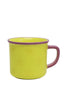 Multiple Choice Enamel Mugs, Star - Yellow