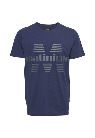 Matinique Jermane Short Sleeve T-Shirt, Blue