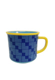 Multiple Choice Enamel Mugs, Graphic Print-Dark Blue