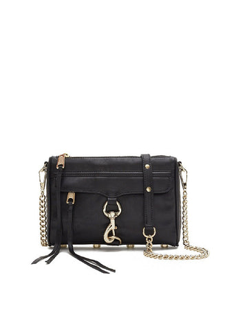 Rebecca Minkoff Mini M.A.C </br> Crossbody Bag, Black
