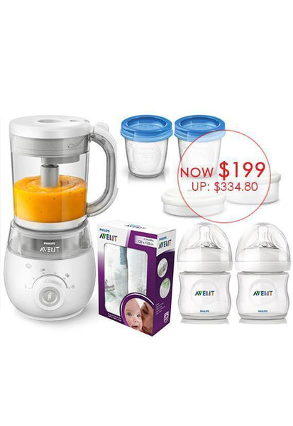 Philips AVENT 4-in-1 Healthy Baby Food Maker Bundle