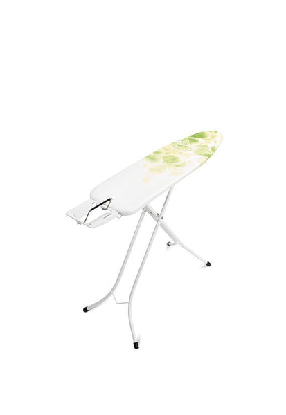 Brabantia Size A Ironing Board w/Steam Iron Rest Ivory- Leaf Clover