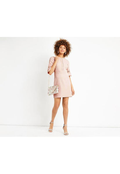 Oasis Int Lace Bell Sleeve Shift Dress
