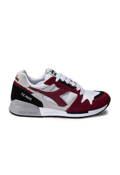 Diadora I.C 4000 NYL II, White/Tibetan Red/Black
