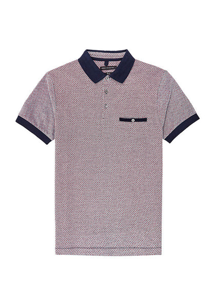 French Connection Polo Shirt, Geometric Pattern