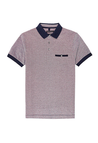 French Connection Polo Shirt, Geometric PaTern
