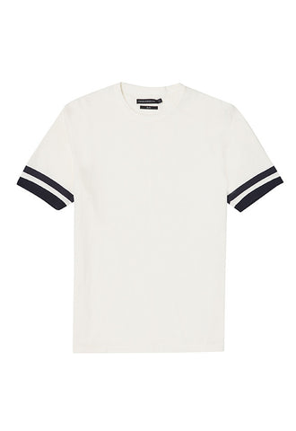 French Connection Stripe Tee, White