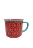 Multiple Choice Enamel Mugs, Red