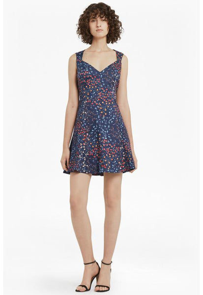 French Connection Frances Printed Cotton Skater Dress
