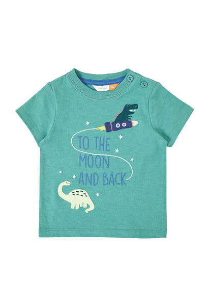 John Lewis Baby 'To the Moon and Back' Dinosaur T-Shirt