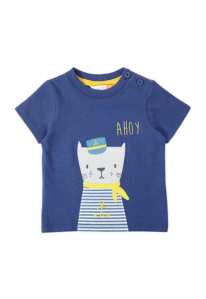 John Lewis Baby Captain Cat T-Shirt