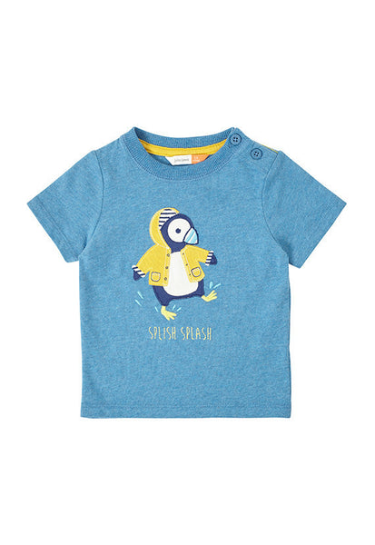 John Lewis Baby Puffin Short Sleeve T-Shirt