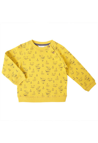 John Lewis Baby Nautical Print Cotton Sweatshirt
