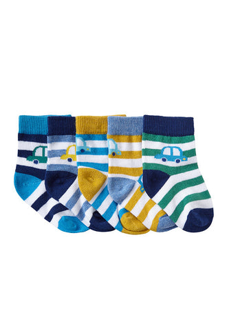 John Lewis Baby Car Socks, Pack of 5