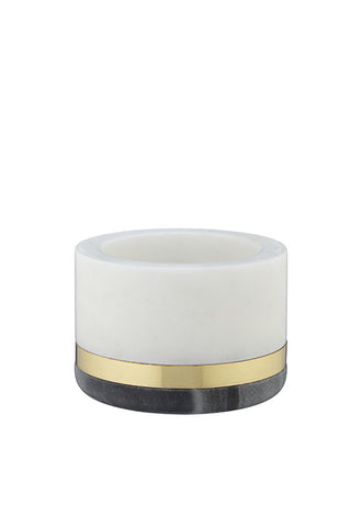 John Lewis Marble and Brass Decorative Jar