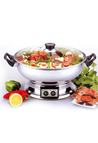 Toyomi Stainless Steel Steamboat with Divider