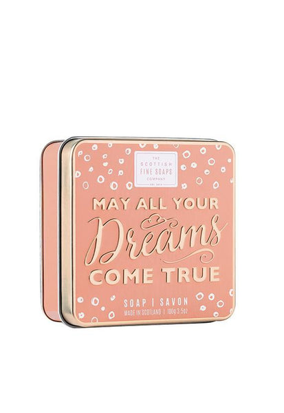 Scottish Fine Soaps May All Your Dreams Come True Soap in a Tin