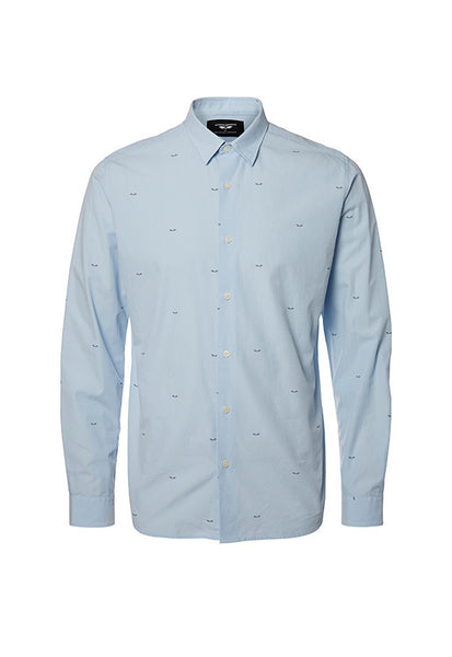 Antonio Banderas Design By Selected Homme Oneprint Longsleeve Shirt, Blue
