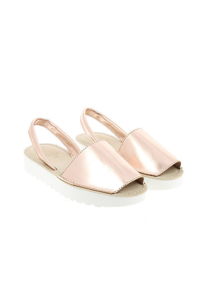 Avarca Menorquina by SKA Isola Flatform, Rose Gold