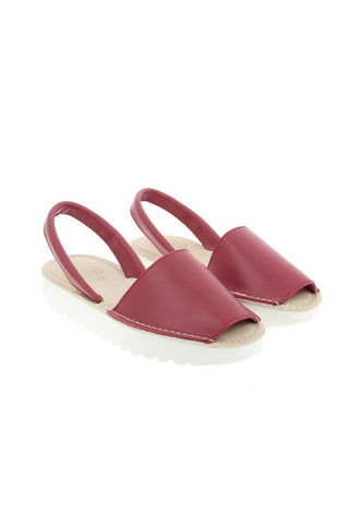 Avarca Menorquina by SKA Isola Flatform, Red