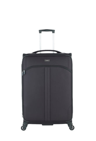 Antler Aire 4 Wheels Softcase Luggage, Black