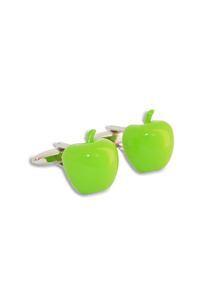 A.Azthom Green Apple Enamel Cufflinks