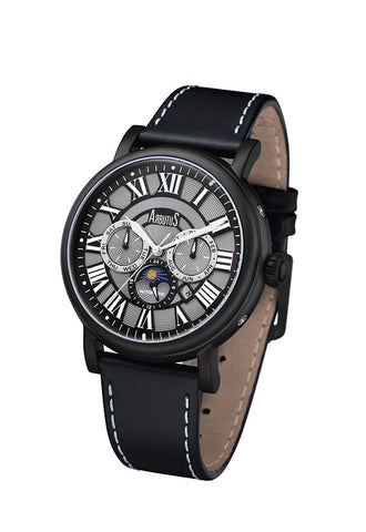 Arbutus 912BBB Multi-function Watch, Black