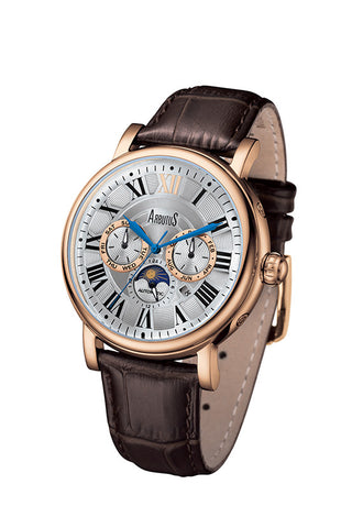 Arbutus 912RWF Multi-function Watch, Rose Gold