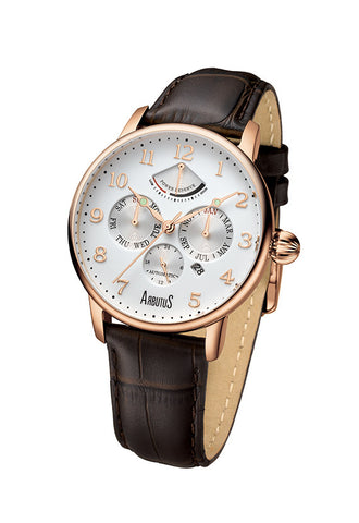 Arbutus 914RWF Power Reserve Watch, Rose Gold