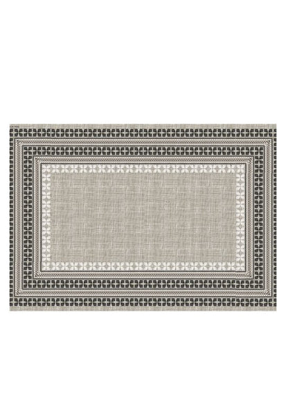 Beija Flor Cross Stitch Placemat, Brown