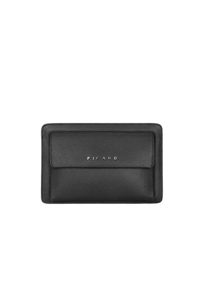 Picard Bravo 1209 Leather Clutch Bag, Black