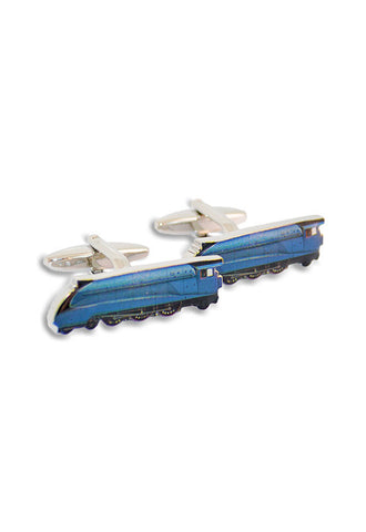 A.Azthom Blue Train Cufflinks