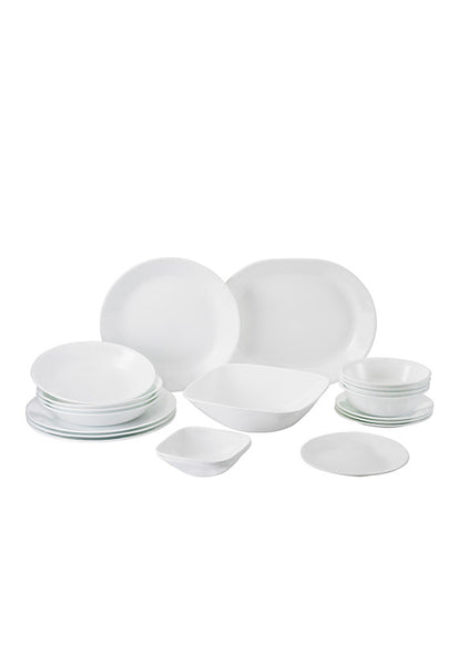 Corelle 20pc Square Round Dinner Set