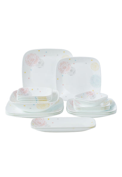 Corelle 21pc Square Round Dinner Set