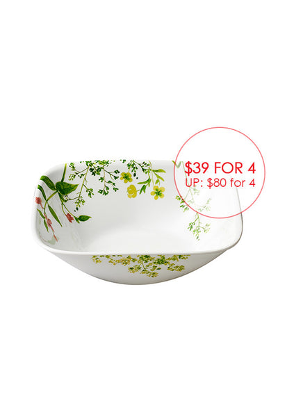 Corelle 4pc Square Round Bowls Set