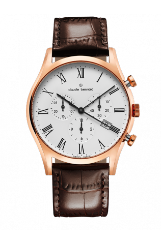 Claude Bernard 10218-37R-BR Sophisticated Classic Chronograph Watch