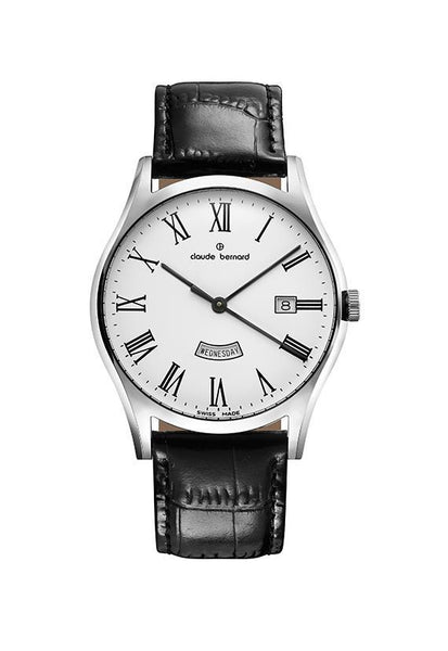 Claude Bernard 84200-3-BR Sophisticated Classic Day Date Watch