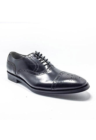 Core Men Oxford Brogue Lace-Ups Shoe, Black