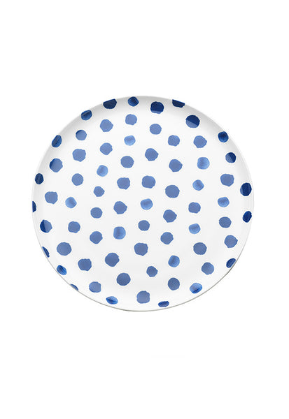 Ecology Indigo Downpour Dinner Plate, 27cm