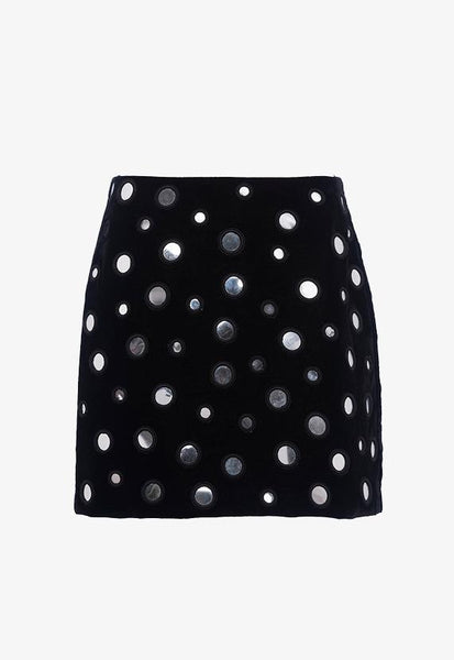 French Connection Mary Mirrors Mini Skirt