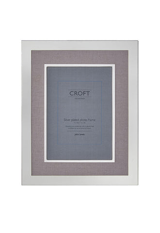 John Lewis Silver Edge Linen Photo Frame