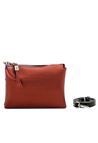 Gianni Chiarini Metallic Crossbody, Rouge